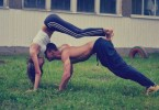 Fit couple workout