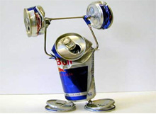 Taurine Red Bull can weight lifting