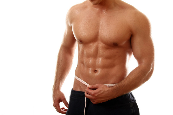 Fit man with shredded abs