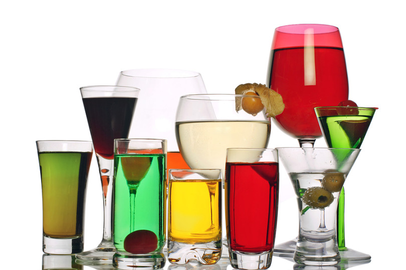 A Variety of Alcoholic Drinks
