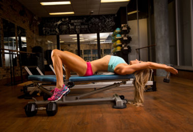 super hot fitness girl training in gym nicotinamide riboside