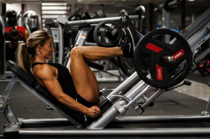 Sexy girl leg workout