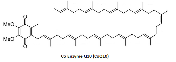 Coenzyme Q Chemical Structure E on Mitochondria Structure