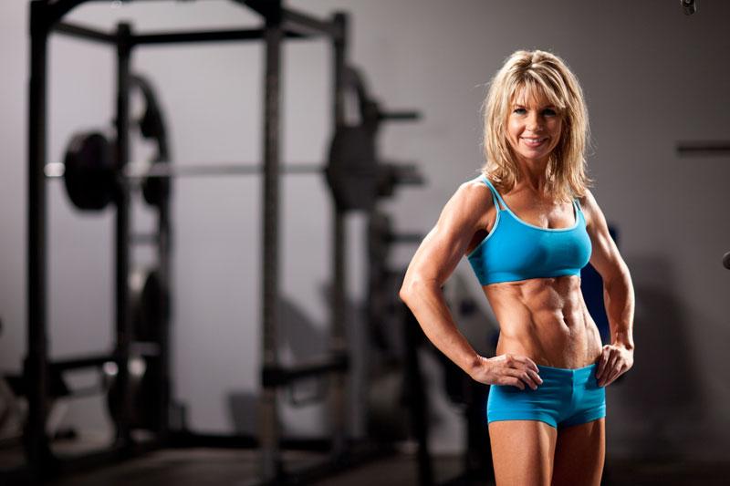 Sexy female in gym