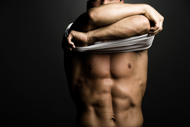 Muscular man with abs