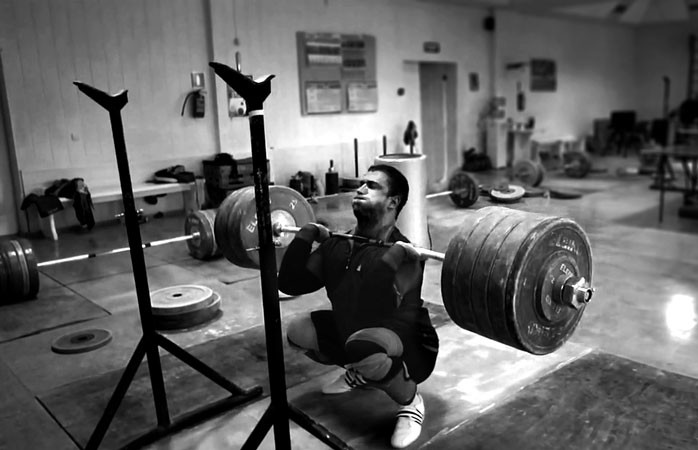 Heavy squats
