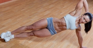 Sexy girl abs workout