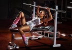 Sexy female weightlifting-Arctium lappa L. increase Testosterone