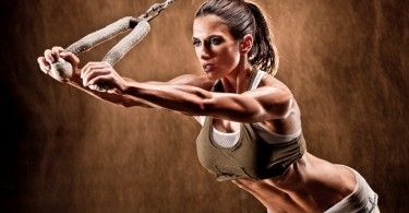 Women Bodybuilding Triceps workout